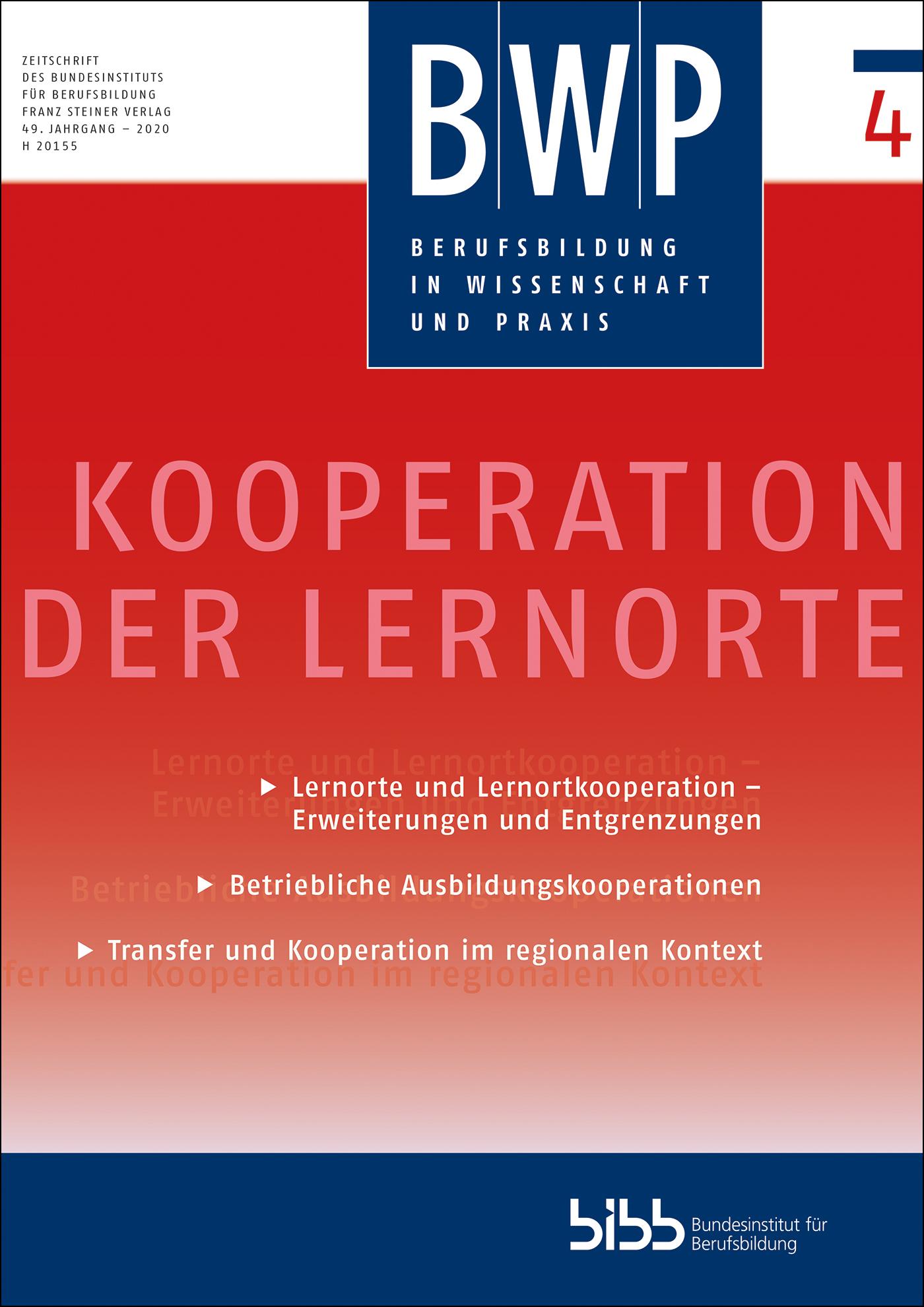 Cover der Zeitschrift BWP Heft 2020/4