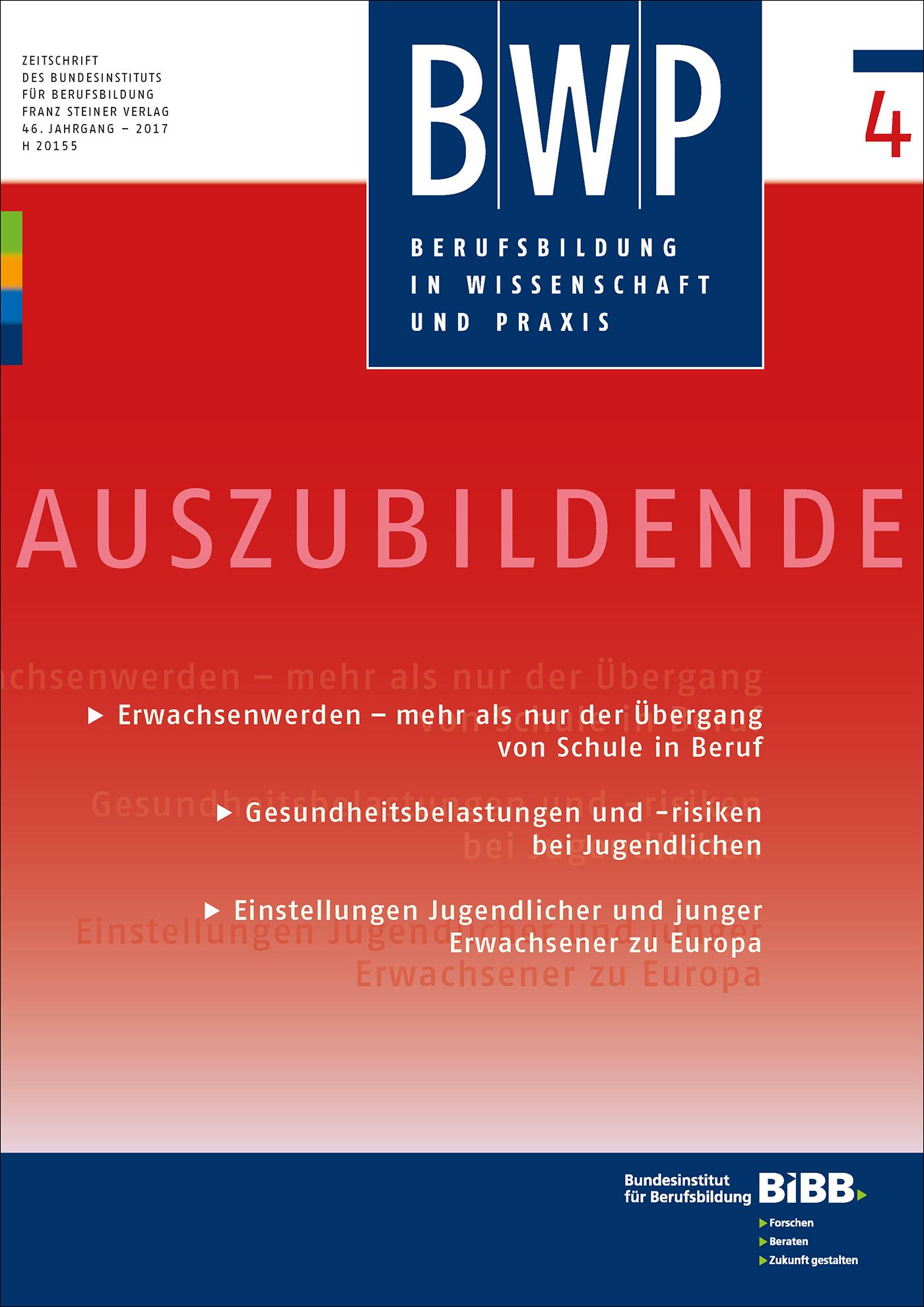Cover der Zeitschrift BWP Heft 2017/4