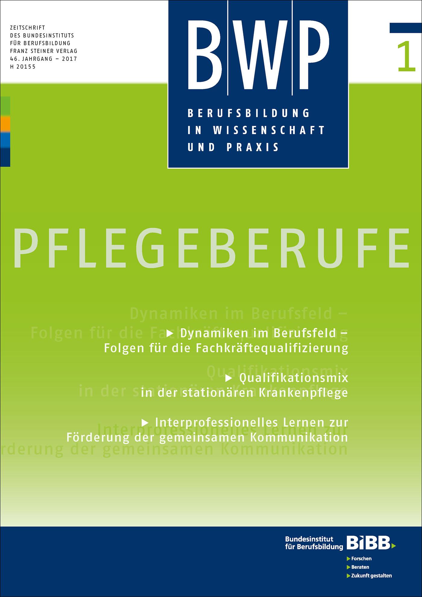 Cover der Zeitschrift BWP Heft 2017/1