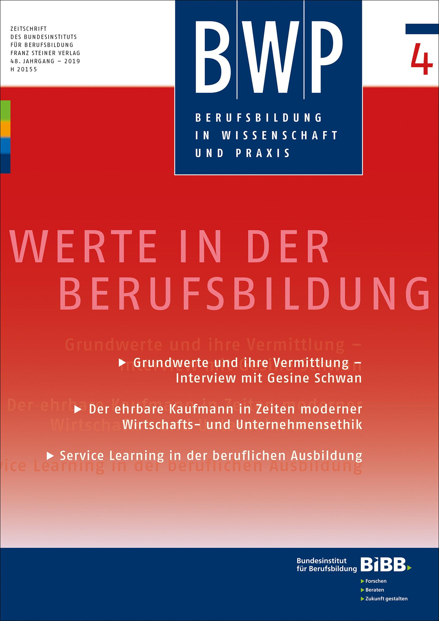 Cover der Zeitschrift BWP Heft 2019/4