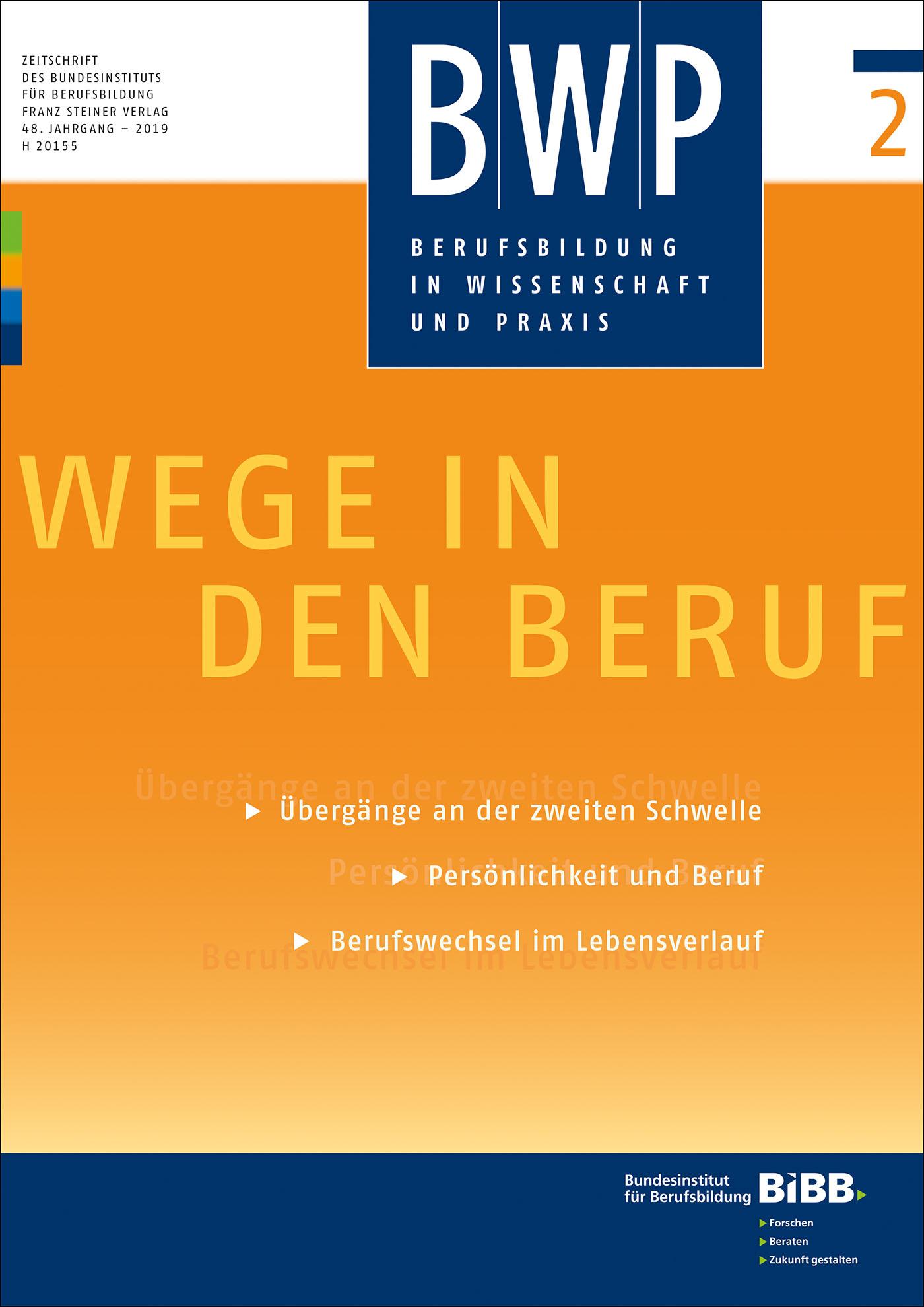 Cover der Zeitschrift BWP Heft 2019/2