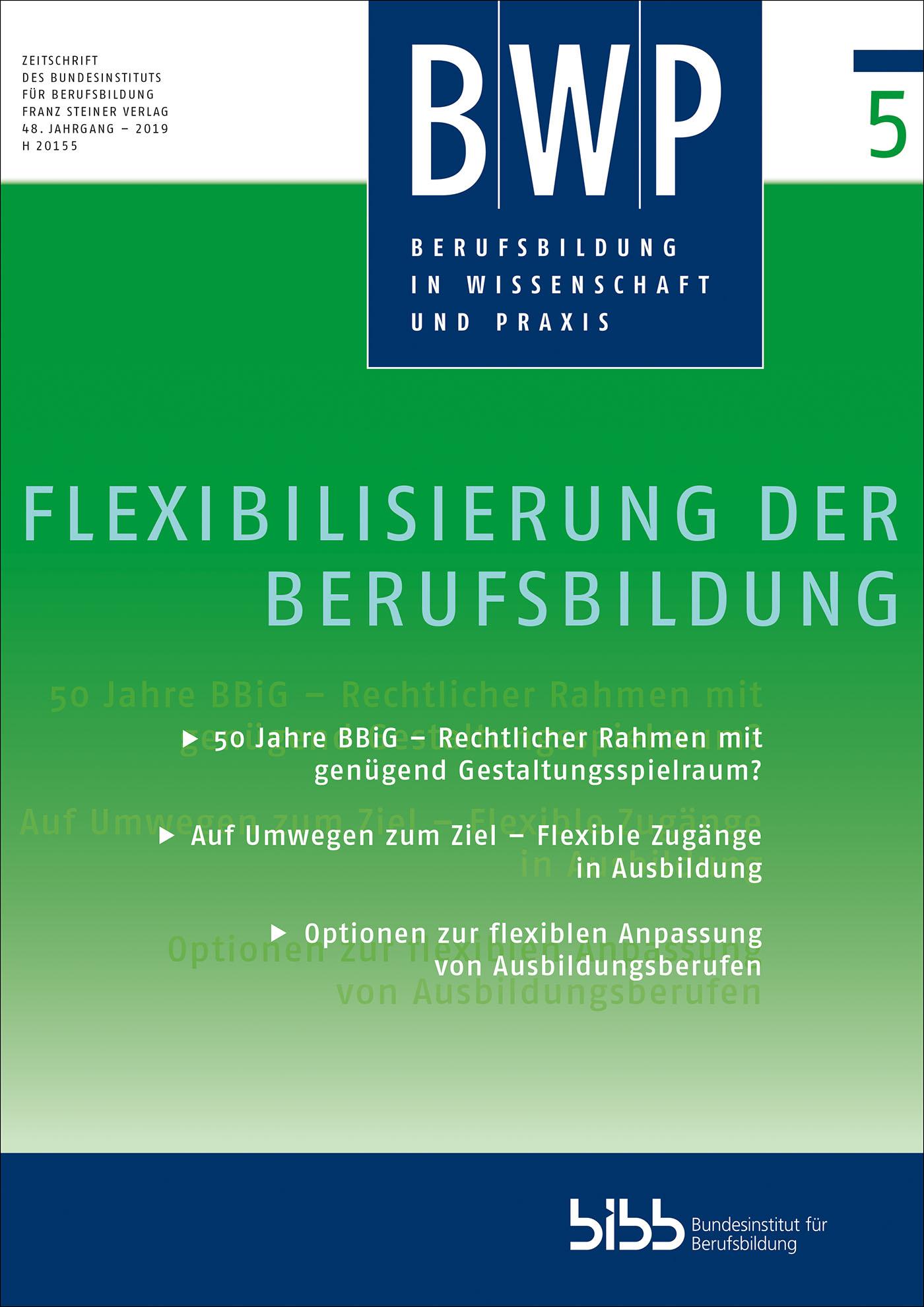 Cover der Zeitschrift BWP Heft 2019/5