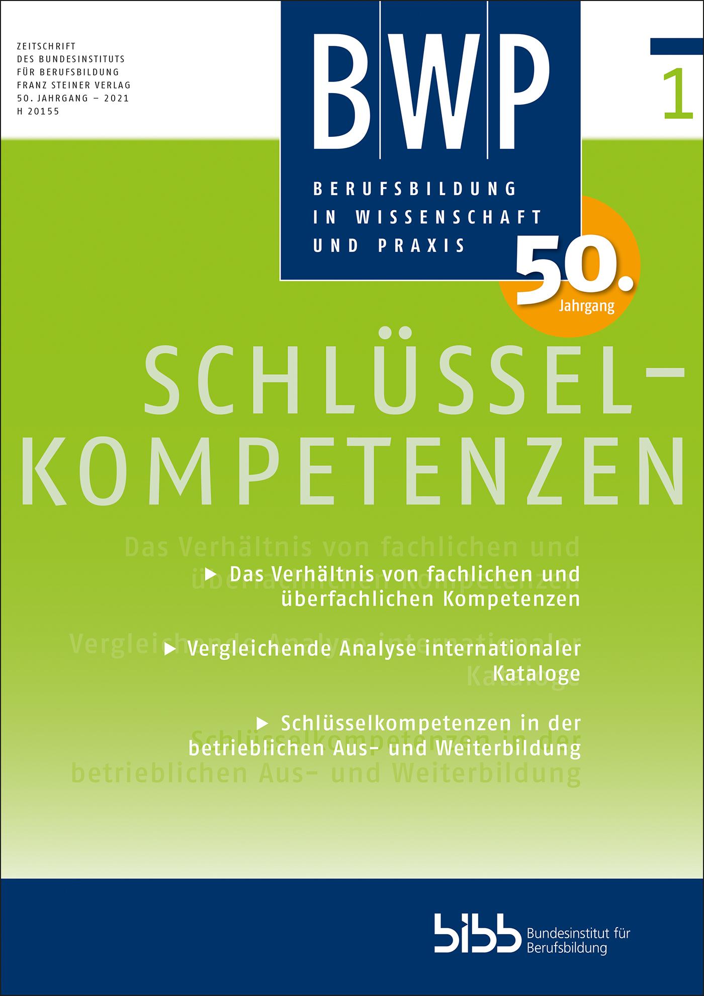 Cover der Zeitschrift BWP Heft 2021/1