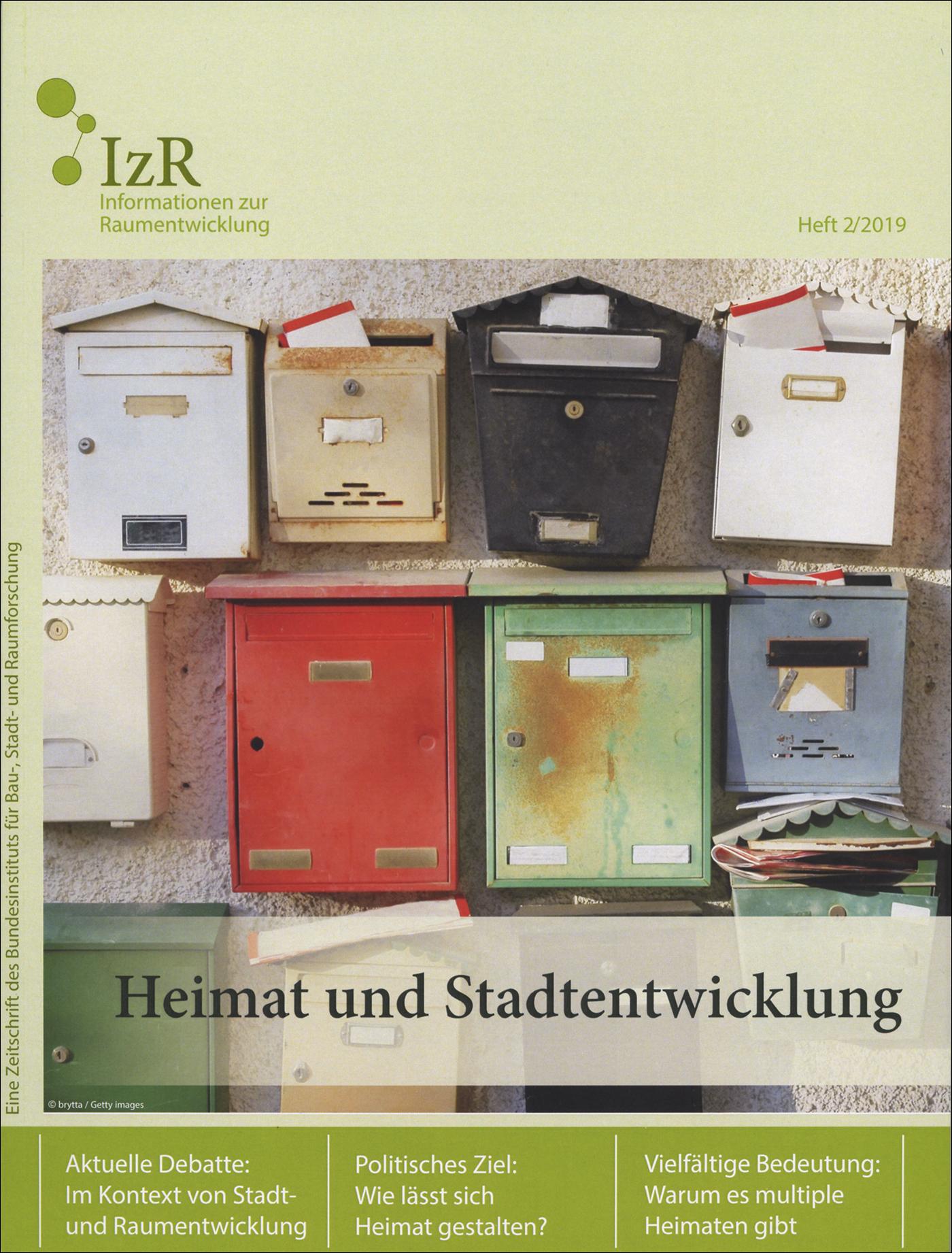 Cover der Zeitschrift IZR Heft 2019/2
