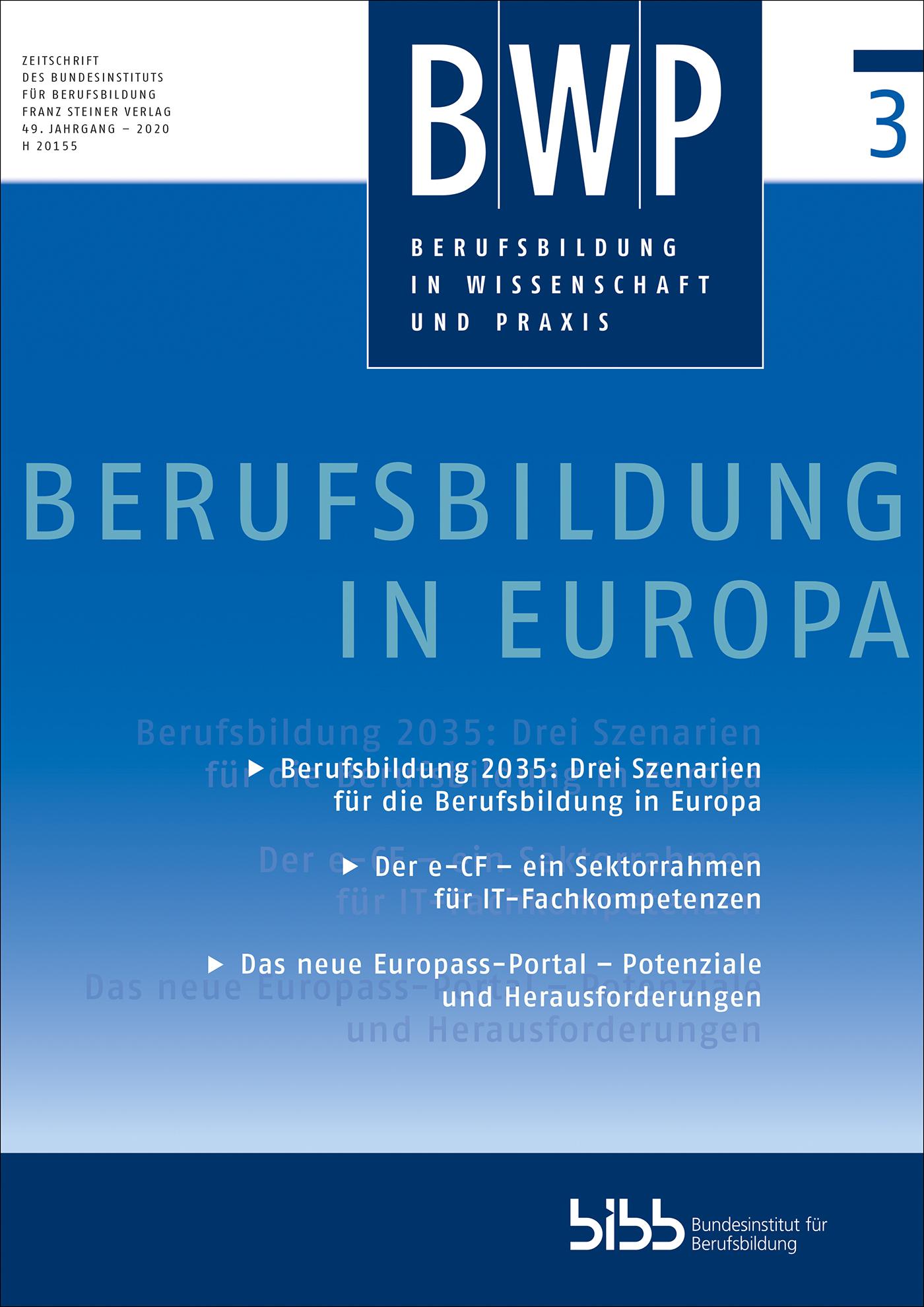 Cover der Zeitschrift BWP Heft 2020/3