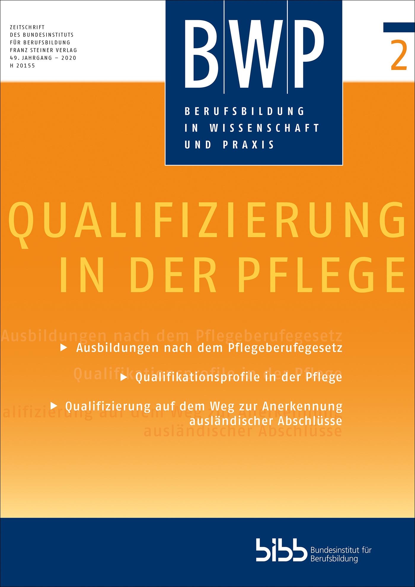 Cover der Zeitschrift BWP Heft 2020/2