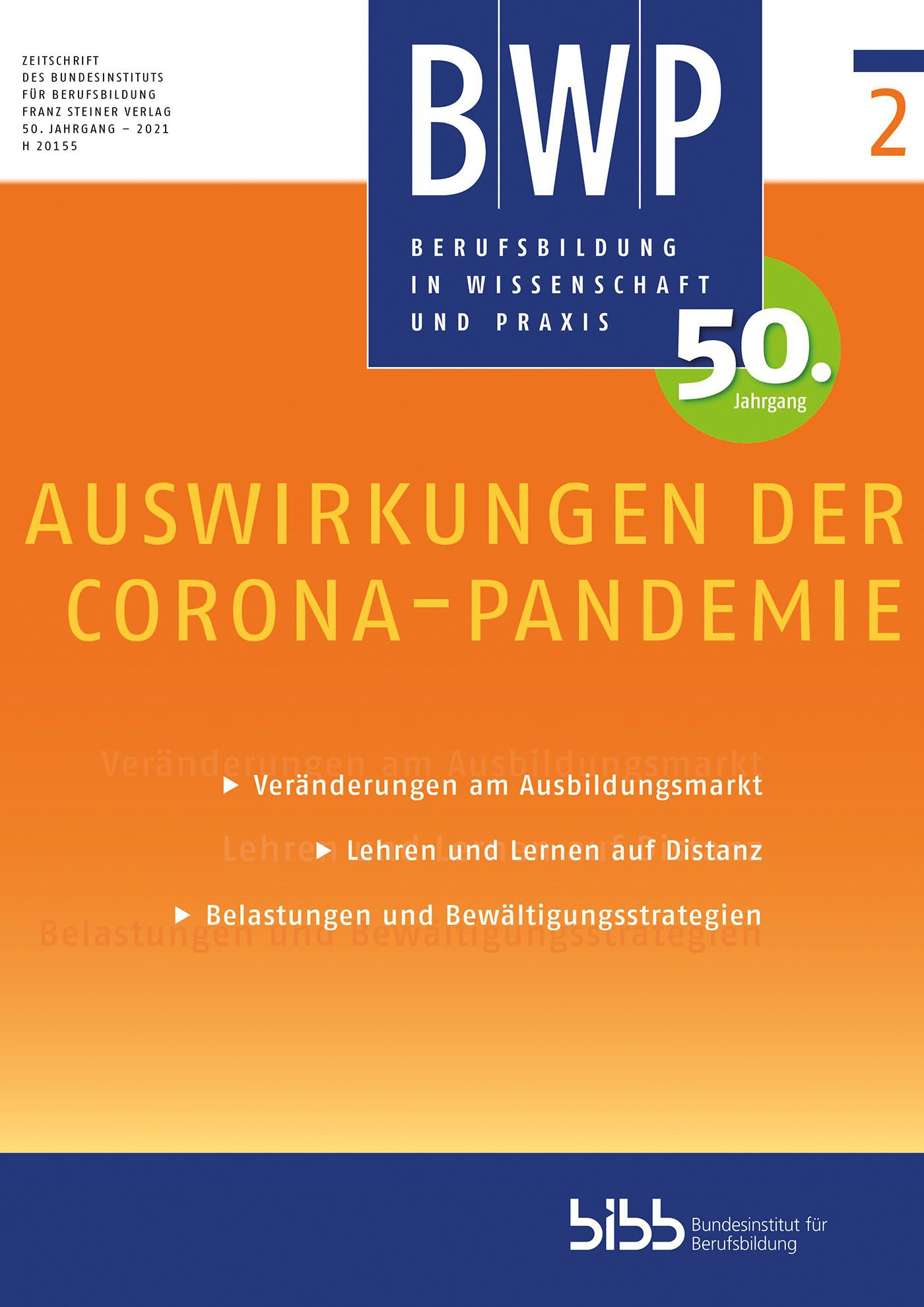 Cover der Zeitschrift BWP Heft 2021/2