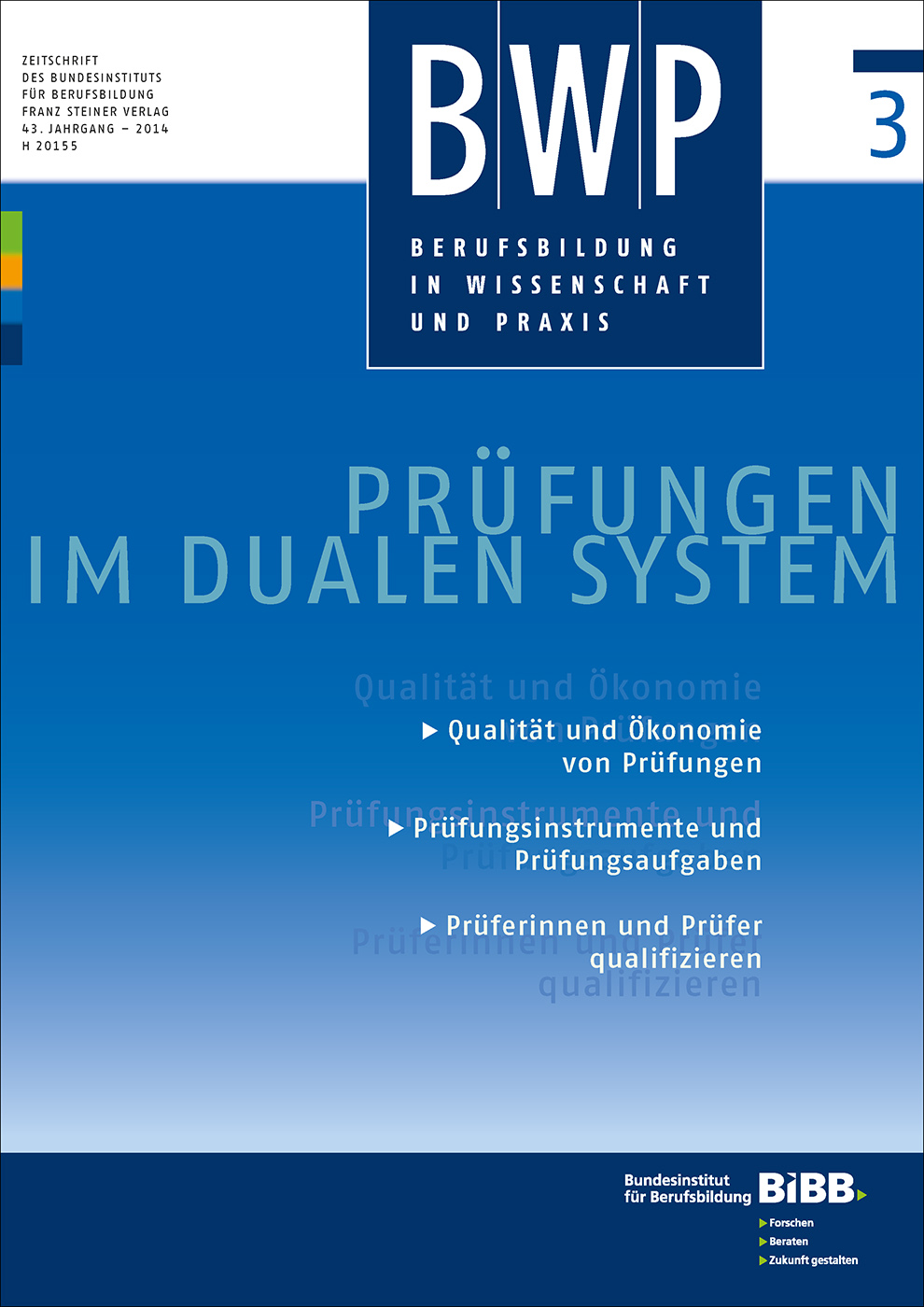 Cover der Zeitschrift BWP Heft 2014/3
