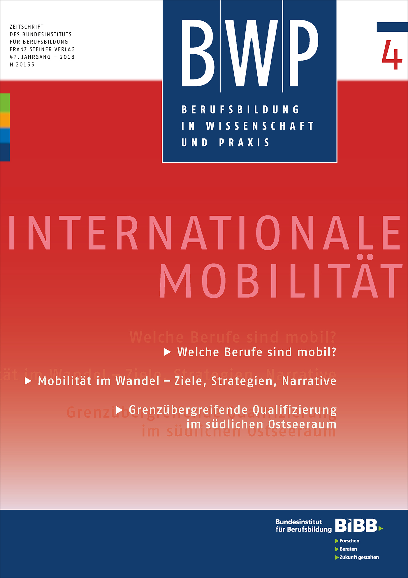Cover der Zeitschrift BWP Heft 2018/4